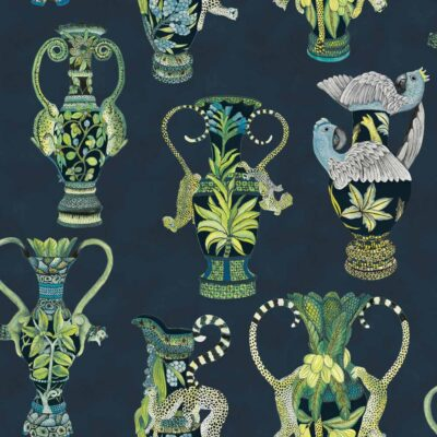 Ardmore khulu vases wallpaper by Cole & Son