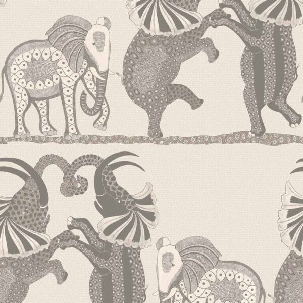 Ardmore safari dance with elephants wallpaper by Cole & Son