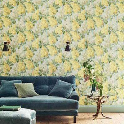 Botanical Botanica yellow lilac wallpaper by Cole & Son