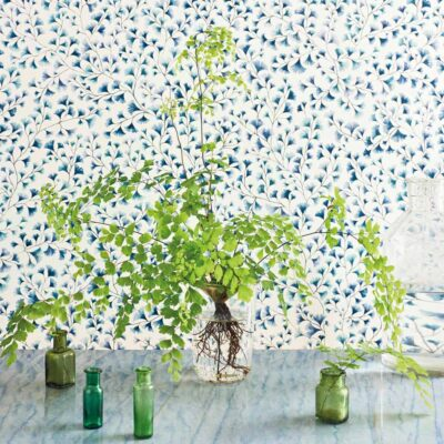 Botanical Botanica blue maidenhair wallpaper by Cole & Son