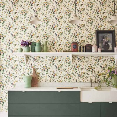 Botanical Botanica multicolours sweet pea wallpaper by Cole & Son