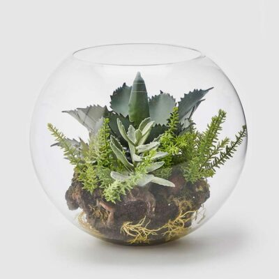 Deco glass terrarium by EDG
