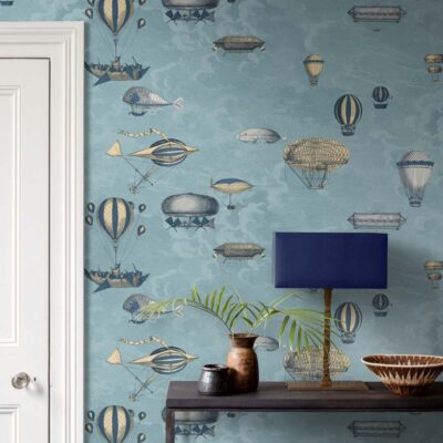 Fornasetti macchine volanti, flying machines wallpaper by Cole & Son