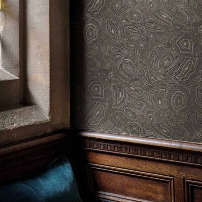 Fornasetti malachite wallpaper by Cole & Son
