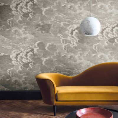 Fornasetti nuvolette, grey clouds wallpaper by Cole & Son