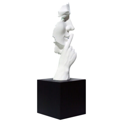JC17012 silence white sculpture by Juliarte