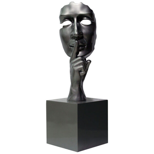 JC17035 silence silver sculpture by Juliarte