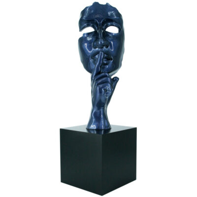 JC17036 silence blue metallic sculpture by Juliarte