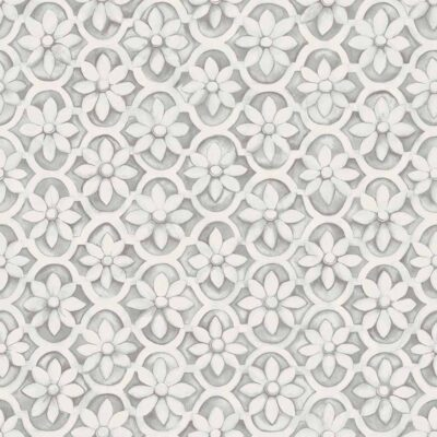white flowers Jali Trellis wallpaper by Cole & Son