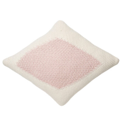 Knitted cushion candy vanilla pink by Lorena Canals