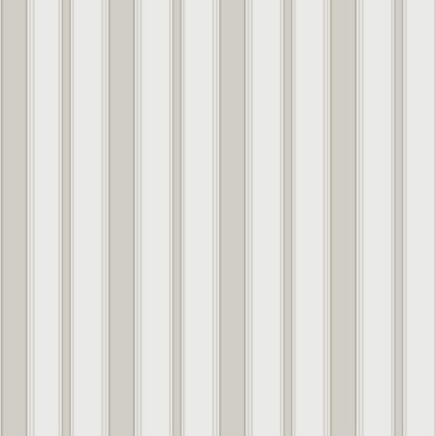 Marquee Stripes Cambridge, white and grey stripe wallpaper by Cole & Son