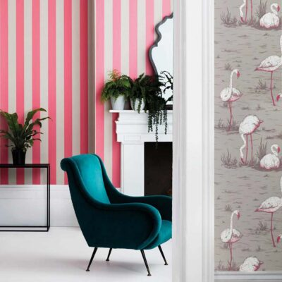 Marquee Stripes Glastonbury Stripe wallpaper by Cole & Son