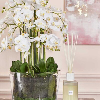 artificial Orchid white H90cm by edg