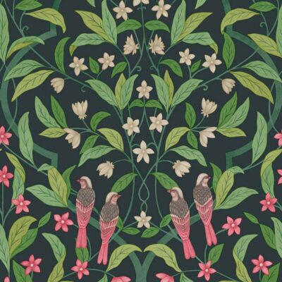 Seville Jasmine and Serinus wallpaper by Cole & Son