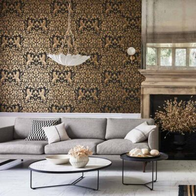 The Pearwood Collection Boscobel Oak wallpaper by Cole & Son