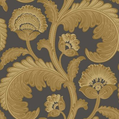 The Pearwood Collection Fanfare Flock wallpaper by Cole & Son
