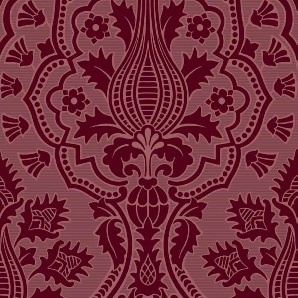The Pearwood Collection Pugin Palace Flock wallpaper by Cole & Son