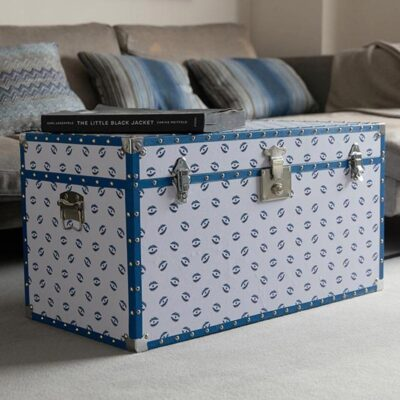 white Trunk with blue evil eyes by Casacarta