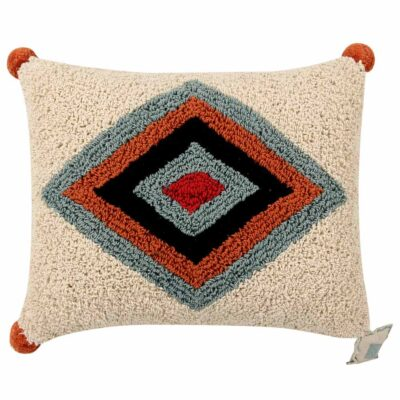 geometrical multicolours washable cushion by Lorena Canals