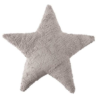 Washable cushion star light grey by Lorena Canals