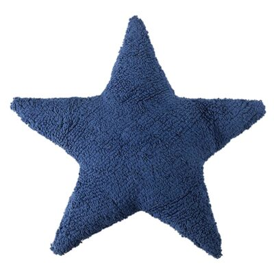 Washable cushion star blue by Lorena Canals