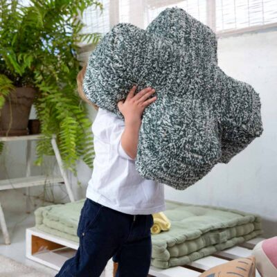 Washable floor green cushion plus by Lorena Canals