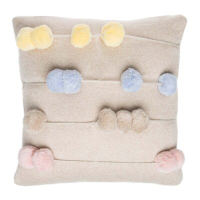 Washable knitted cushion counting frame by Lorena Canals
