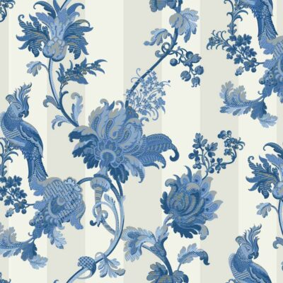 blue and white Zerzura wallpaper by Cole & Son