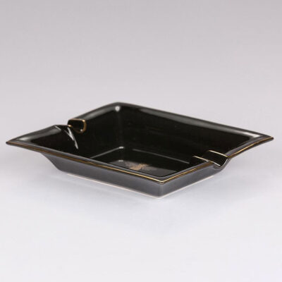 black ashtray trinket tray bee by Casacarta