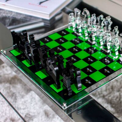chess board bee black & green by Casacarta