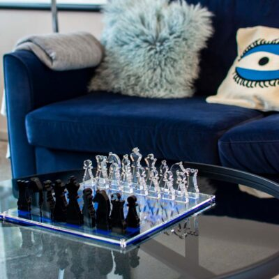 clear chess board eye blue by Casacarta