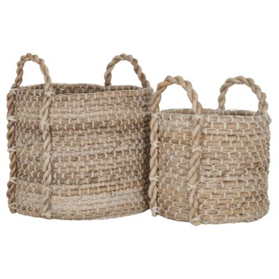 banana leaves and rope basket patio by Must Living
