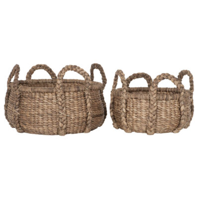 baskets colony low made of water hyacinth by must living