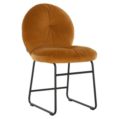 Black metal frame ochre chair Bouton by Must Living