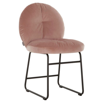 Black metal frame pink chair Bouton by Must Living