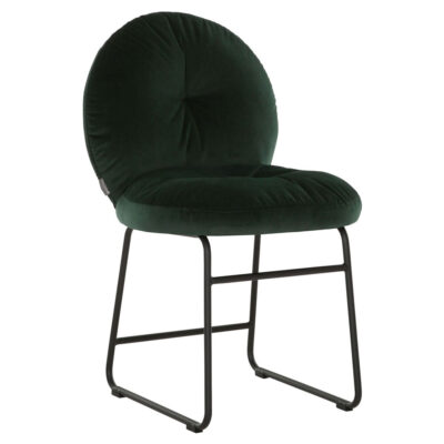 Black metal frame green chair Bouton by Must Living