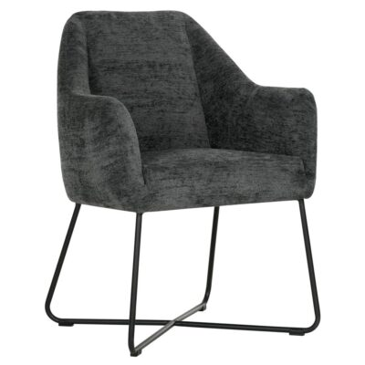 Black metal frame charcoal chair Dream by Must Living
