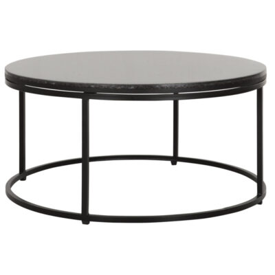 black round coffee table Palm Springs by Must Living
