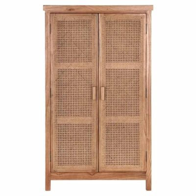 woven cane cupboard natural Provence by Must Living