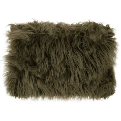 green hairy cushion Metropole rectangular by Must Living