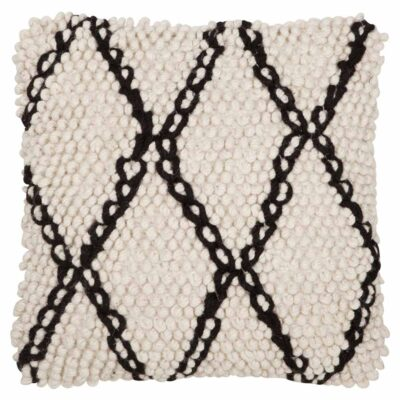wool cushion black and white Princess by Must Living