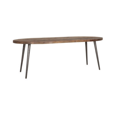 oval dining table Egg made from recycled teak 225 cm by Must Living