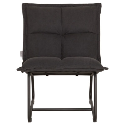 kids black lounge chair by Must Living