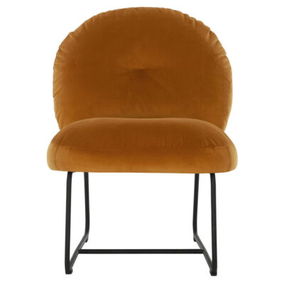 Black metal frame lounge chair Ochre Bouton by Must Living