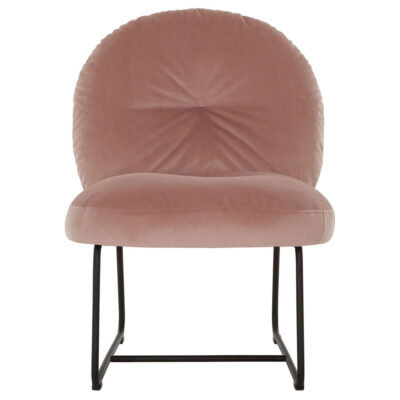 Black metal frame lounge chair pink Bouton by Must Living