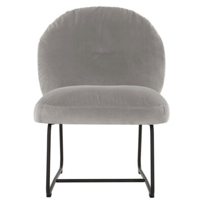 Black metal frame lounge chair slate grey Bouton by Must Living