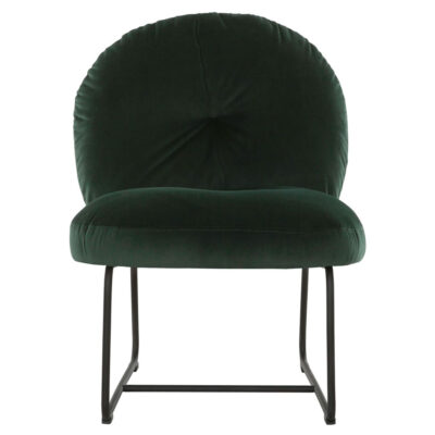 Black metal frame lounge chair green Bouton by Must Living