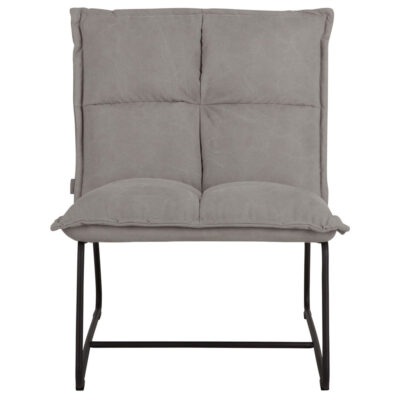 Black metal frame grey lounge chair Cloud by must Living