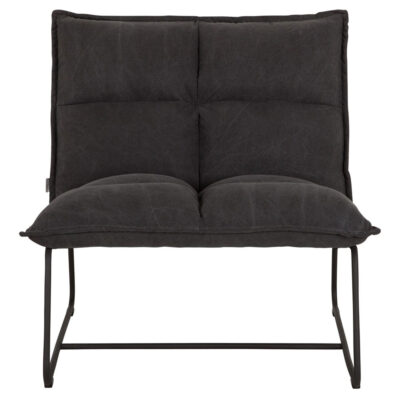 Black metal frame black lounge chair Cloud xl by Must living