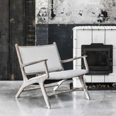 Beechwood frame lounge chair Maxwell by Must Living